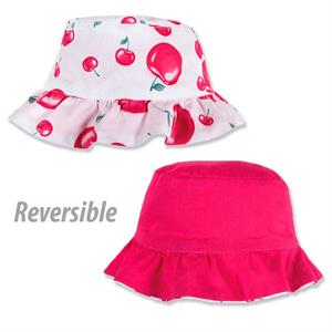 Gorro  reversible cerezas